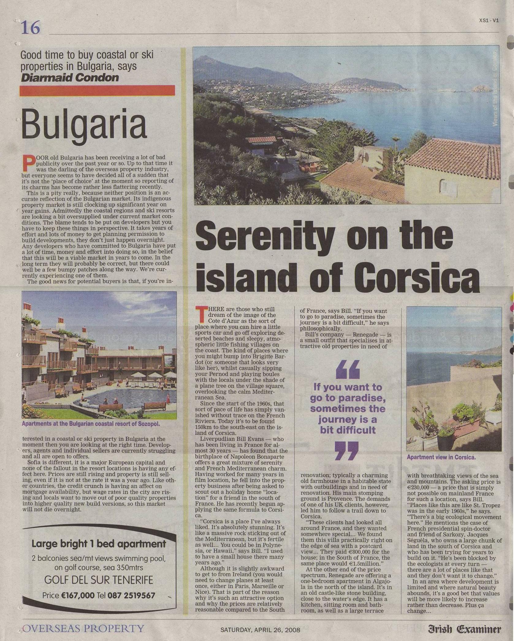 Examiner Apr 08 Corsica