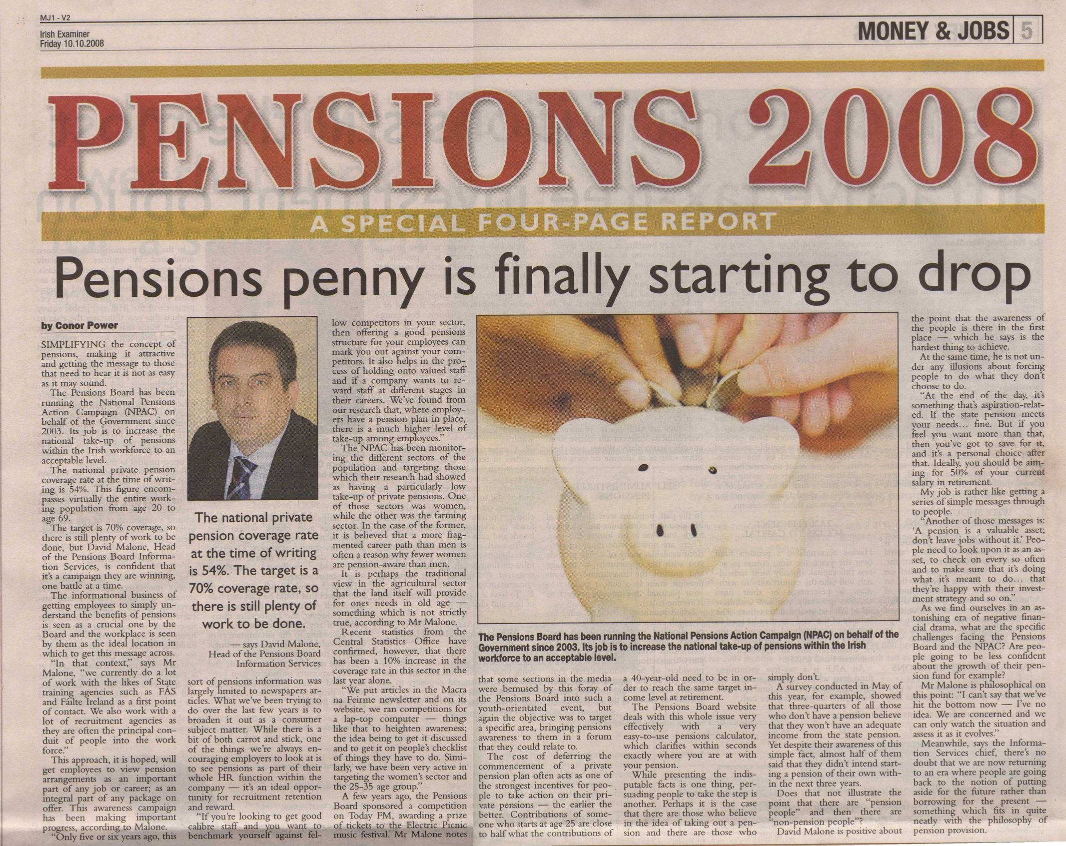 Pensions 2008