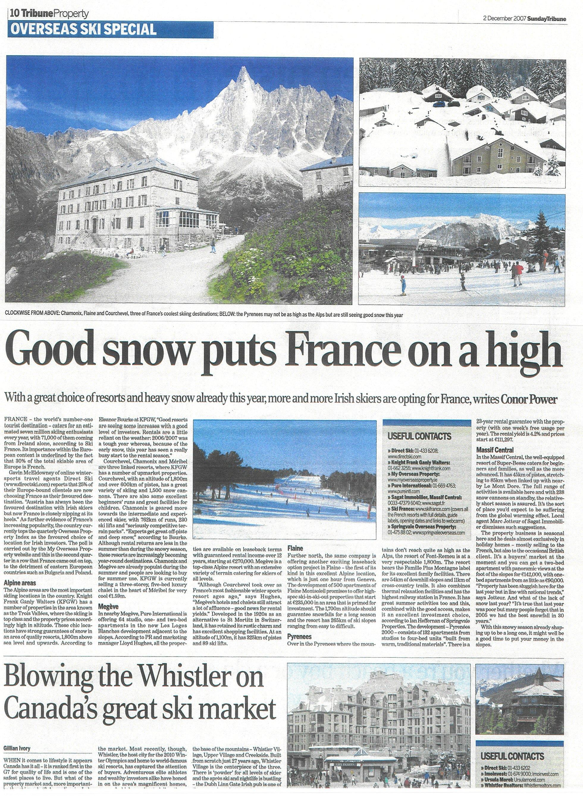 Tribune France Ski