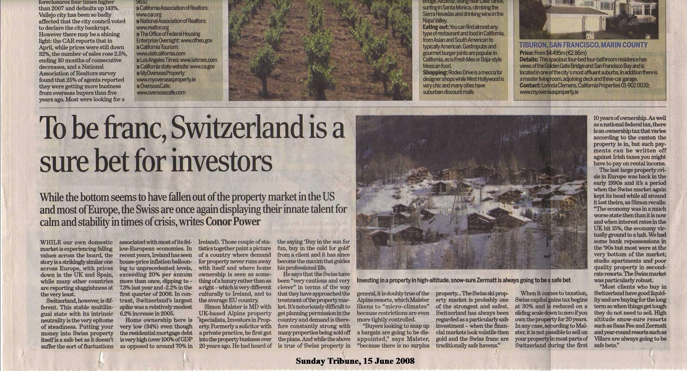 Tribune Switzerland June 08