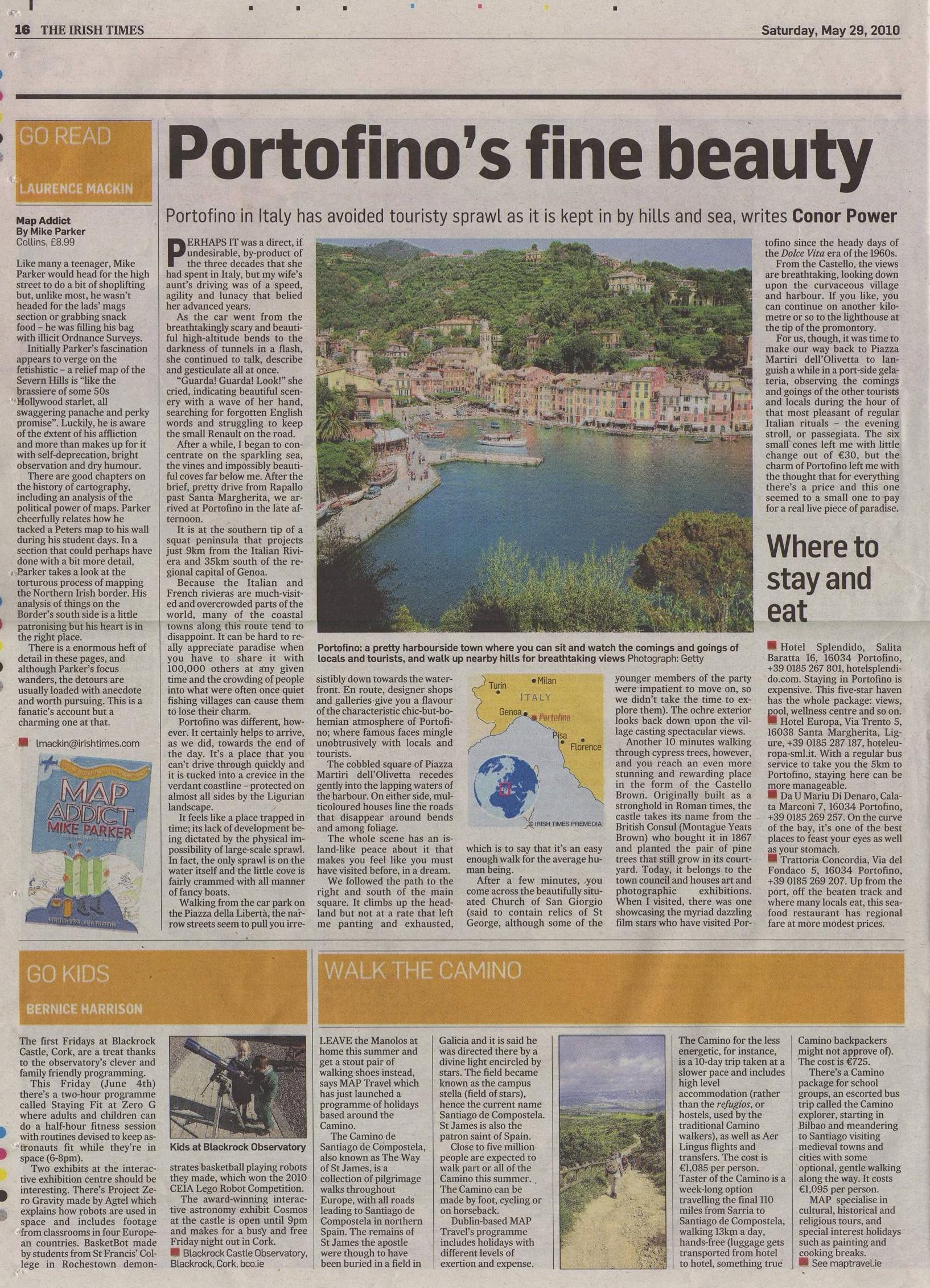 Irish Times Porto Fino