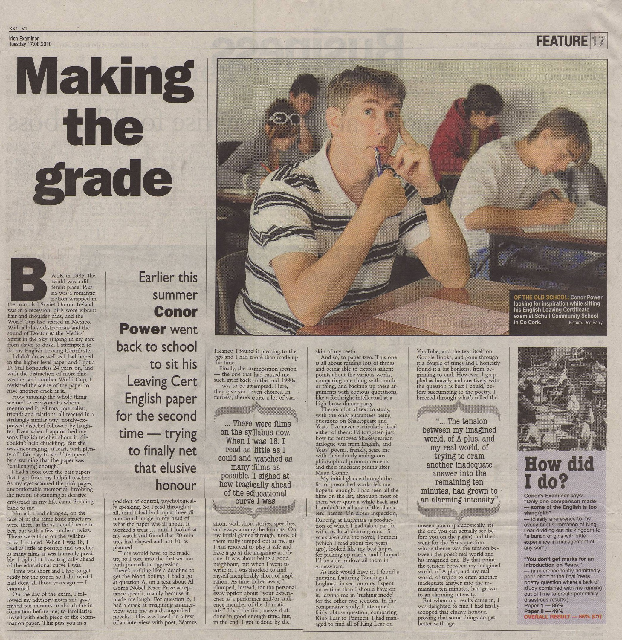how to write a leaving certificate ireland