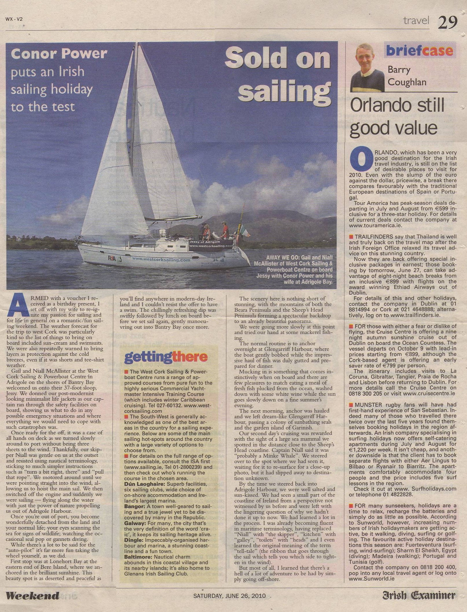 Travel June 2010 Irish Examiner