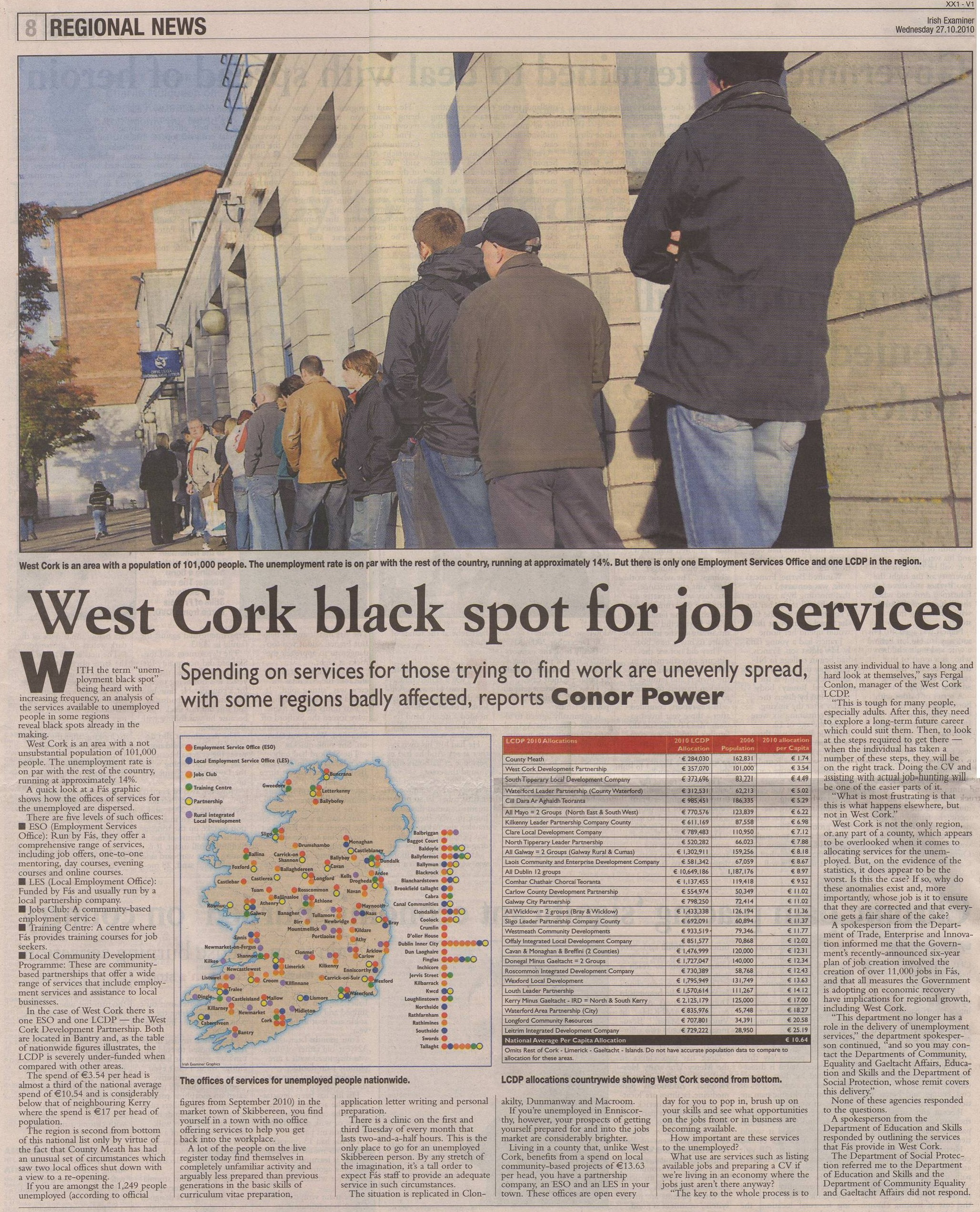Lack of Services for Unemployed