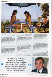 H&E Magazine, July 2012, Croatian Naturist Report.