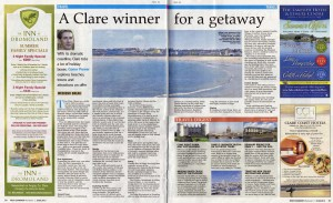 Irish Examiner - June 2013: Short Break to Clare