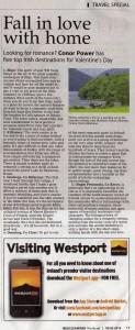 Irish Examiner - Romantic Ireland, Feb 2014