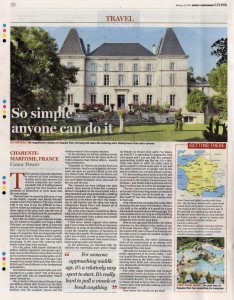 Charente Camping - Sunday Independent, 15 Feb 2015