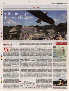 Puy du Fou - Sunday Independent, November 2014